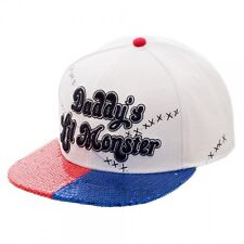 Suicide Squad Daddy's Lil Monster PU Sequin Bill Snapback Cap New BIOWORLD