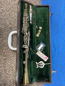King American Standard H N White Clarinet with Case