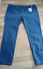 Reft39) Bnwt Trousers Tu 22. Skinny Crop Jean Blue