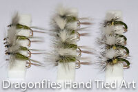 Dry Trout Fly Fishing Flies Blue winged Olive, BWO Para,Olive Yellow Klinkhammer