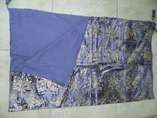 """2x Purple with Gold Detail Throws 60"""" x 48"""" Lined. Ideal for any Room"""