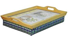 Aidapt Wooden Lap Tray w/ Cushion Beanbag Padded Trays Ideal Eat Work Craft Read