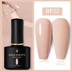 BORN PRETTY 10ml Soak Off UV Gel Nail Polish Glitter Sequins Nail Art Varnish