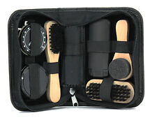 Shoe Cleaning Kit in black Leatherette case ideal for travel    22435