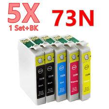 5X No-OEM 73N 073N T0731 ink Cartridge for Epson NX220 TX410 TX209 TX200 TX40