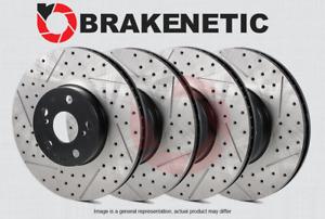 [FRONT + REAR] BRAKENETIC PREMIUM Drilled Slotted Brake Disc Rotors BPRS36881