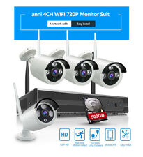 ANNI 4CH Wireless Security Camera System 720P 1.0MP NVR WIFI CCTV with 500GB HDD