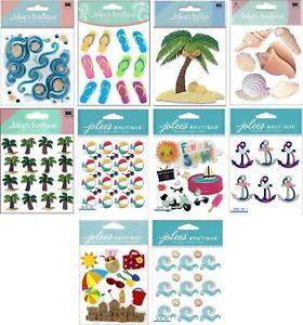 U CHOOSE Jolee's BEACH Stickers Flip Flop Shells Waves Palm Tree Castle Anchor
