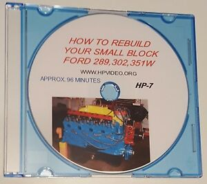 "How to Rebuild your Ford 5.0, 289, 302, 351W/393 Engine.""DVD"" or USB Flash Drive"