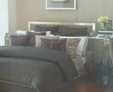 Michael Kors Tribeca Gray King Bedskirt Bed Skirt NIP
