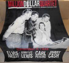 New Million Dollar Quartet Elvis Presley Plush Fleece Throw Gift Blanket 1956