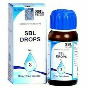 SBL Homeopathy Drops No 3 for Urinary Tract Infection 30ml FS
