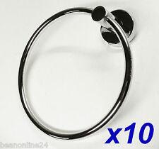 10 Pack x Chrome Towel Rings / Hangers / Hooks
