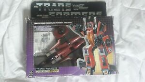 Vintage Transformers evil Decepticon G1 THRUST Boxed toy