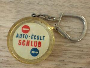Alte Tür Schlüssel Vintage Jahr 60-70 Auto Schule Alsace Schlüsselring Sammlung
