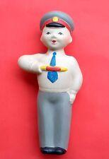 1960's Ussr Russian Soviet Rubber Toy Policeman Militia Man Rare