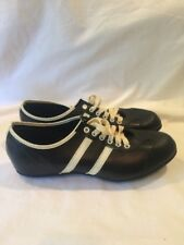 Vintage Soccer Fútbol Cleats Made in Japan Man Made 2 Stripes