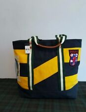$150 POLO RALPH LAUREN MENS PREPPY LEATHER TRIM CANVAS  RUGBY TOTE BAG
