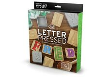 Letter Pressed ALPHABET Cookie Cutter Stampers all in One FRED 28 in all