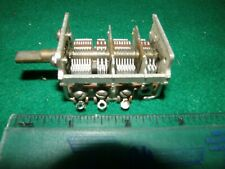 VINTAGE AIR VARIABLE CAPACITOR 4 SECTIONS ~180/20/80/15mmf