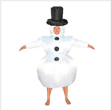 New Inflatable Santa Costume Christmas Gift Mens Xmas Fancy White Dress Suit IW
