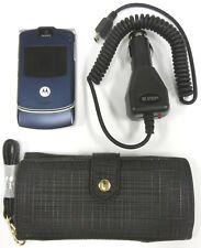 Motorola Razr V3 - Cosmic Blue ( At&T ) Cellular Flip Phone - Bundled