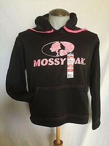 Mossy Oak Pink & Black Hoodie Ladies Medium Logo Sweatshirt - Performance NWT