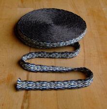 Mittelalter LARP Reenactment Handgewebte Brettchenborte Wolle braun-natur-blau