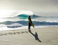 BEACH SURF  SEASIDE canvas picture print 12 inch x16 inch stretched over frame