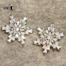 Stud 925 Silver Filled Tassel earrings New Woman's Aaa+ White Zircon Long Ear