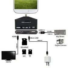 5in1 MHL To HDMI HDTV Adapter OTG Card Reader For Samsung Galaxy S3 S4 S5 NOTE3