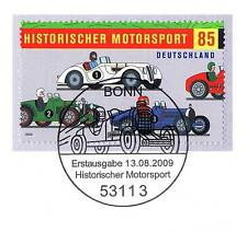 FRG 2009: Motor sports! Block brand no. 2754 with the Bonner Special postmark!