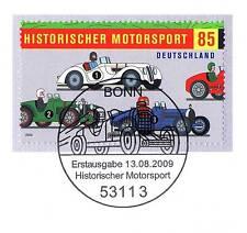 BRD 2009: Motorsport! Blockmarke Nr. 2754 mit dem Bonner Sonderstempel! 1A! 155