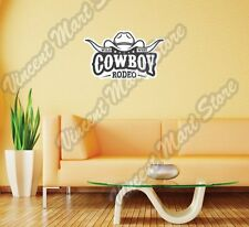 "Wild West Cowboy Rodeo Bull Hat Wall Sticker Room Interior Decor 25""X14"""