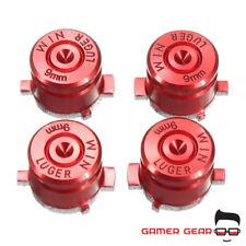 Red Aluminium Metal Bullet Buttons PS4 Controller Replacement Metal Mod Kit