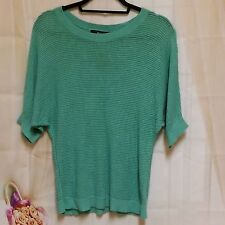 Mossimo Women's Plus Size Sweater Top Sheer Green Short Sleeve Size 2X Blouse