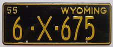 Wyoming 1955 CARBON COUNTY TRAILER License Plate HIGH QUALITY # 6-X-675