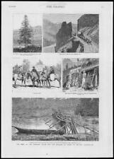 1882-Antiguo impresión Canadá Princesa Louise Marqués Lorne British Columbia (59)