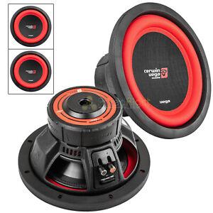 "2 Pack 10"" Dual 2 Ohm Subwoofer 1100 Watts Car Audio Sub DVC Cerwin Vega V102DV2"