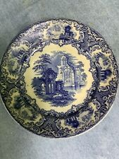 Petrus Regout Abbey Luncheon Plate Blue Transferware Maastricht Holland