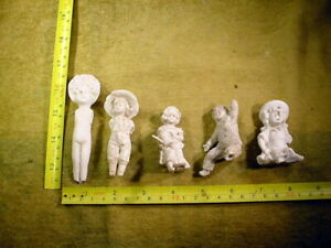 5 x excavated vintage damaged doll parts or lovely figurine age 1890 13375