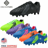 DREAM PAIRS Girls Boys Soccer Shoes Athletic Cleats Low Top Kids Football Shoes