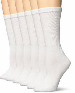 "Hanes® Women's PREMIUM Black Crew Sock 6-Pack "" Color COLLECTION & Softness"""