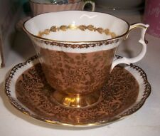 ROYAL ALBERT BUCKINGHAM SERIES TEACUP & SAUCER SET BONE CHINA KT2608