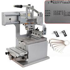Single Color Manual Pad Printing Machine 500 Pcsh For Dates Lot Number Printer
