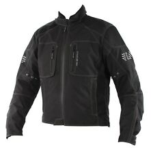 SINISALO Motorradjacke RACY wasserdicht Jacke schwarz mit Protektoren Gr. 50
