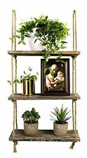 Decorative Wall Hanging Wood Shelf 3 Tier Floating Shelves Rustic Home Decor New
