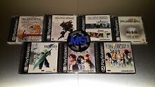 Final Fantasy Playstation 1 Complete Collection ☆☆ MINT CASES ☆☆ VII VIII IX PS1