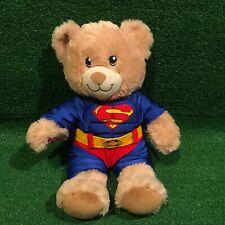 RARE Collectible Build A Bear DC COMICS Man Of Steel Superman Plush Bear Toy