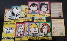Boite neuve contenant 12 cartes  des personnages de PEANUTS